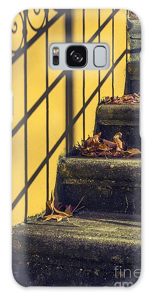 Handrail Galaxy Case - Stairs With Leaves by Carlos Caetano
