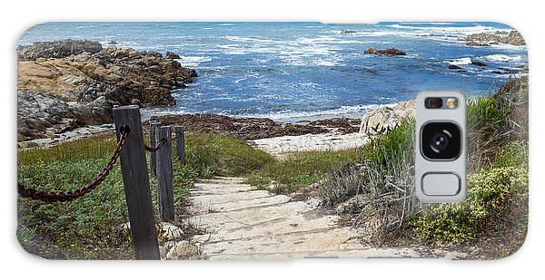 Galaxy Case featuring the photograph Stairway To Asilomar State Beach by Priya Ghose