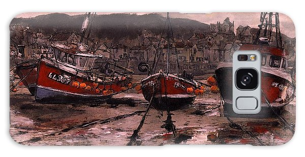 Staithes At Low Tide Galaxy Case by Randy Sprout