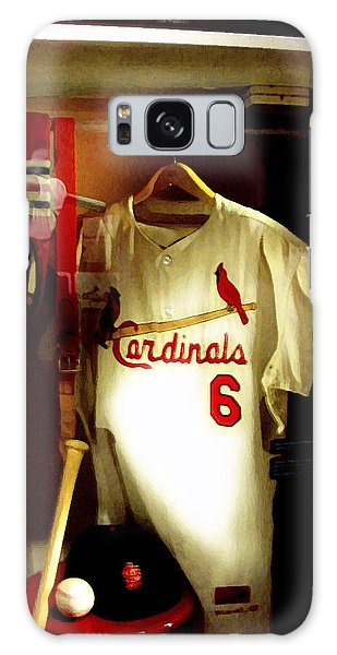 Stan The Man's Locker Stan Musial Galaxy Case by Iconic Images Art Gallery David Pucciarelli
