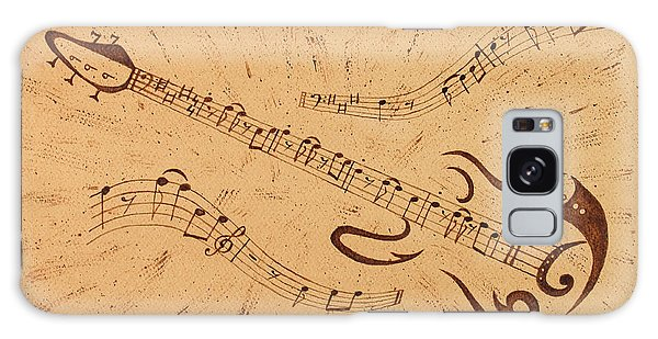 Stand By Me Guitar Notes Original Coffee Painting Galaxy Case