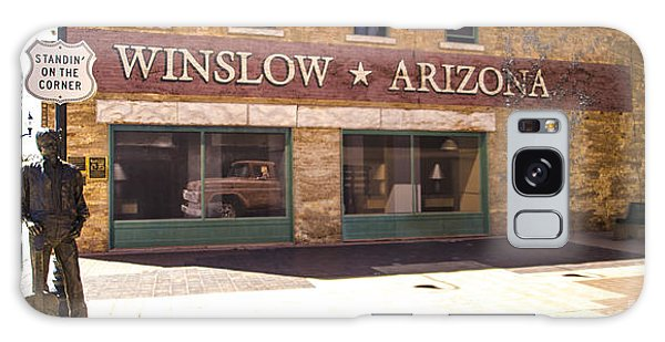 Standin On The Corner In Winslow Arizona Galaxy Case