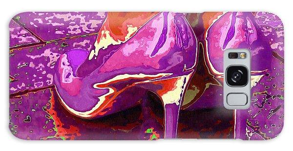 Standing In The Purple Rain Galaxy Case