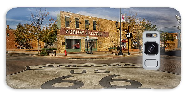 Standing On The Corner In Winslow Arizona Dsc08854 Galaxy Case by Greg Kluempers
