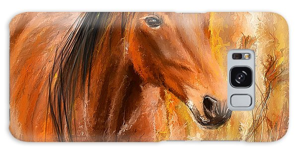 Standing Regally- Bay Horse Paintings Galaxy Case