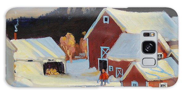 Stanley Kay Farm Galaxy Case by Len Stomski