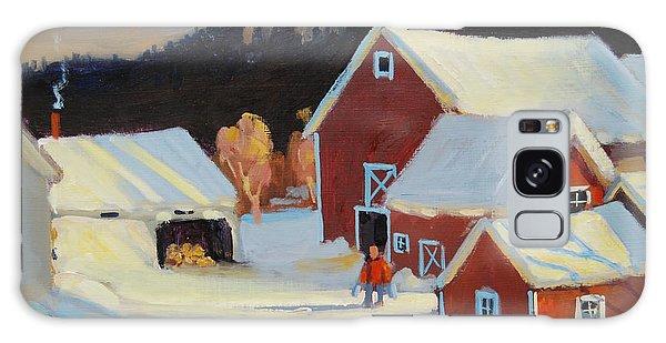 Stanley Kay Farm Galaxy Case by Len Stomski