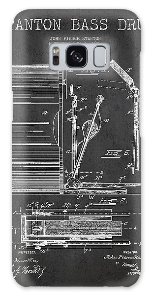 Drum Galaxy Case - Stanton Bass Drum Patent Drawing From 1904 - Dark by Aged Pixel