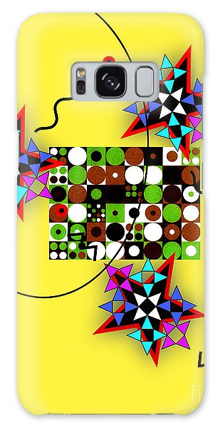 Star Circle Triangle Design Galaxy Case by Christine Perry