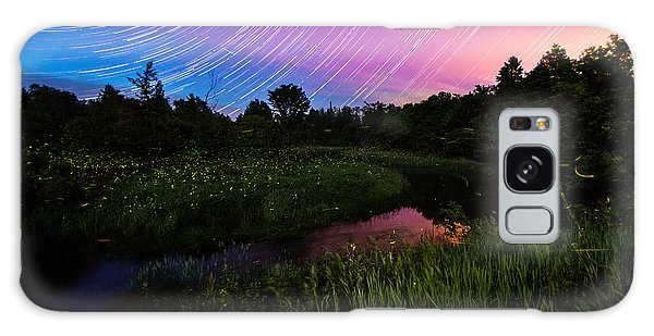 Star Lines And Fireflies Galaxy Case