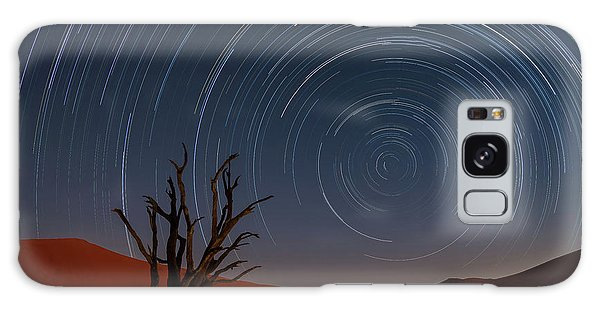 Sand Dunes Galaxy Case - Star Trails Of Namibia by Karen Deakin