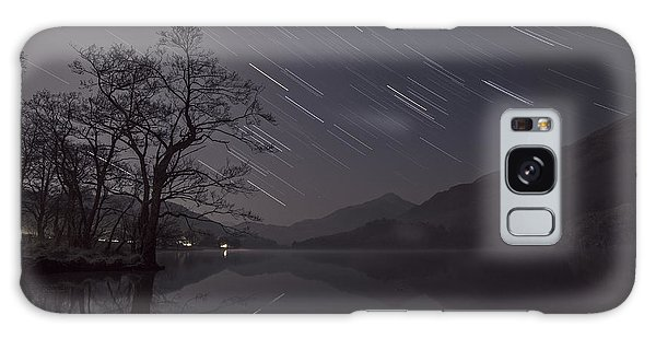 Star Trails Over Lake Galaxy Case by Beverly Cash