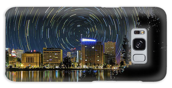 Star Trails Over Oakland Galaxy Case