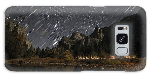 Star Trails Over Yosemite Galaxy Case
