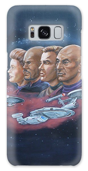 Star Trek Tribute Captains Galaxy Case by Bryan Bustard