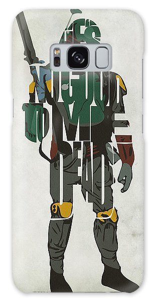 Star Wars Inspired Boba Fett Typography Artwork Galaxy Case