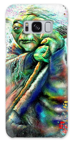 Star Wars Yoda Galaxy Case by Daniel Janda