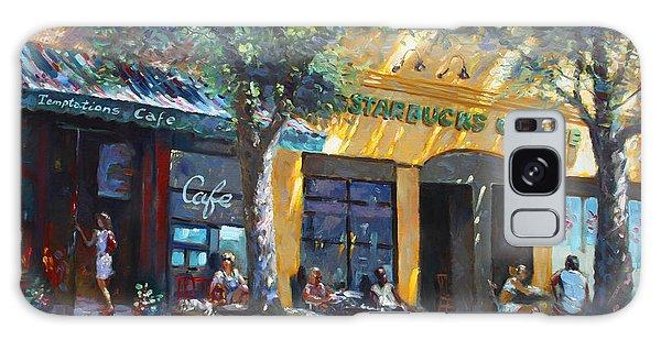People Galaxy Case - Starbucks Hangout Nyack Ny by Ylli Haruni