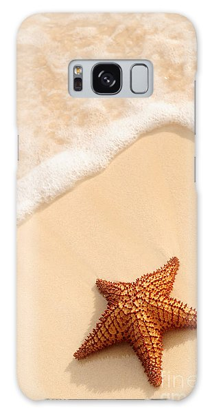 Starfish And Ocean Wave Galaxy Case