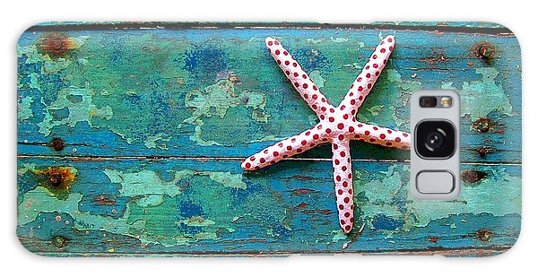 Seashore Peeling Paint - Starfish And Turquoise Galaxy Case