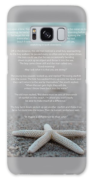 Starfish Make A Difference  Galaxy Case