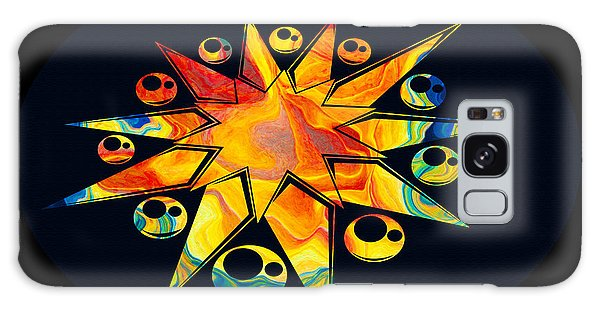 Staring Into Eternity Abstract Stars And Circles Galaxy Case