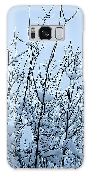Stark Beauty - Snow On Branches Galaxy Case