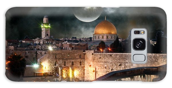 Starry Night At The Dome Of The Rock Galaxy Case by Doc Braham