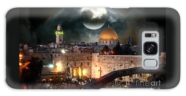 Full Moon At The Dome Of The Rock Galaxy Case