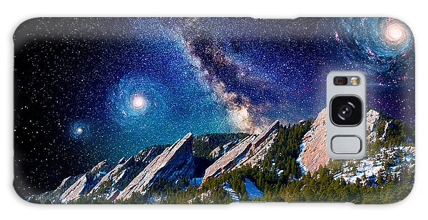 Starry Night At The Flatirons Galaxy Case by John Hoffman