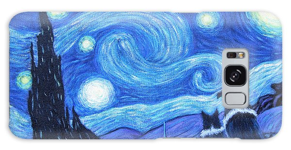 Starry Night Border Collies Galaxy Case