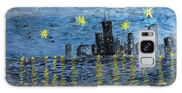 Starry Night In Chicago Galaxy Case