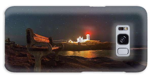 Starry Skies Over Nubble Lighthouse  Galaxy Case