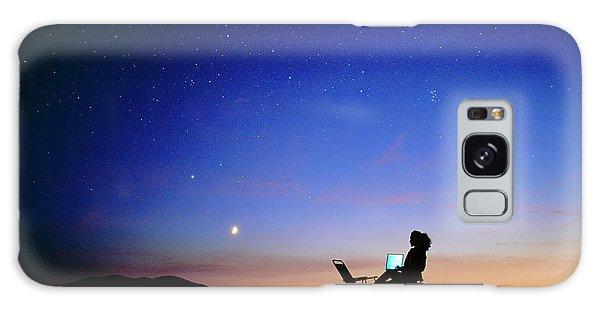 Amateur Galaxy Case - Starry Sky And Stargazer by David Nunuk