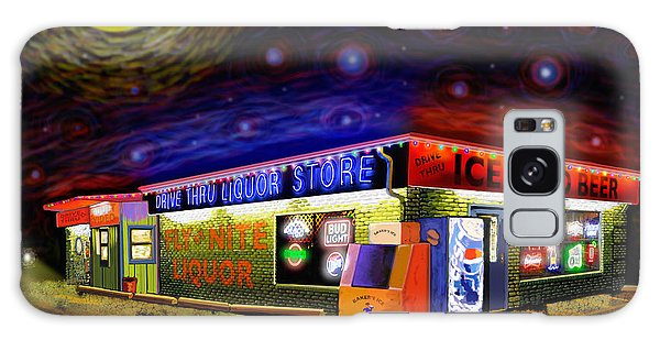 Starry Starry Fly By Nite Drive Thru Liquor Store Galaxy Case by Robert FERD Frank