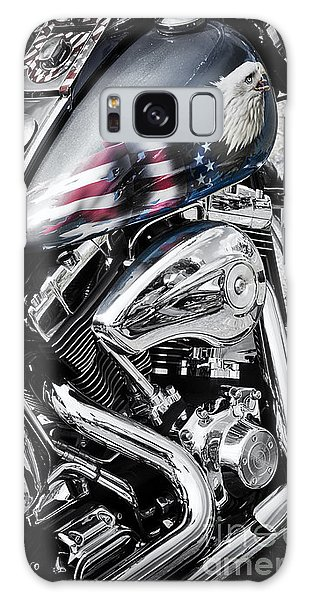 Stars And Stripes Harley  Galaxy Case