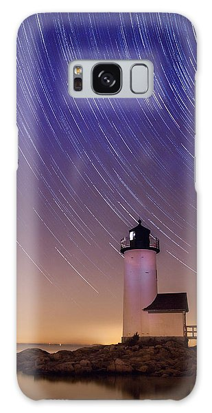 Stars Trailing Over Lighthouse Galaxy Case by Jeff Folger