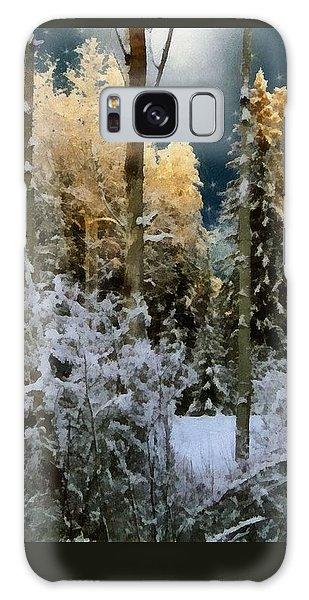 Starshine On A Snowy Wood Galaxy Case by RC deWinter