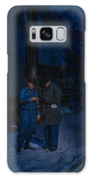 Starting To Snow Time To Go Galaxy Case by J Griff Griffin