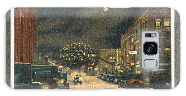 State Street Bristol Va Tn At Night Galaxy Case