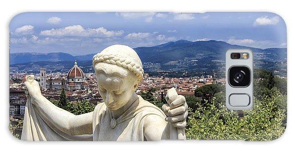 Statue At San Miniato Al Monte Galaxy Case