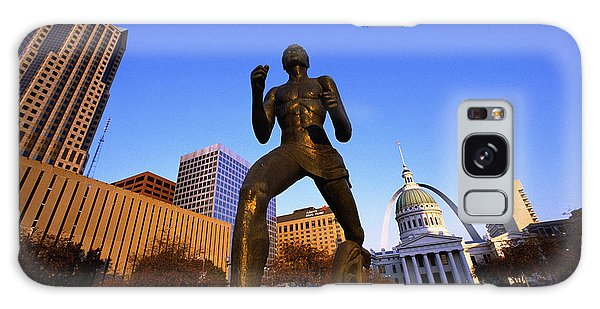 St Louis Mo Galaxy Case - Statue Near Old Courthouse St Louis Mo by Panoramic Images
