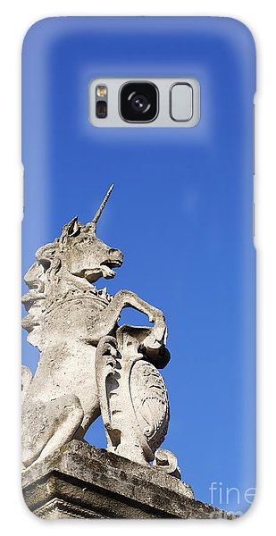 Statue Of A Unicorn On The Walls Of Buckingham Palace In London England Galaxy Case