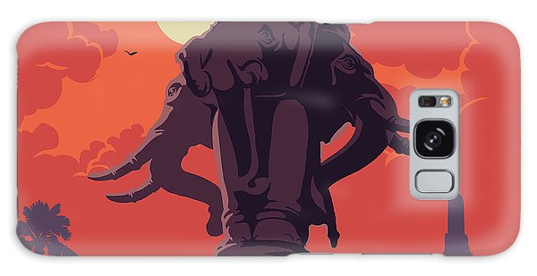 View Galaxy Case - Statue Of Elephants In Bangkok City by Antonpix