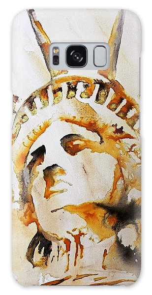 Statue Of Liberty Closeup Galaxy Case by J- J- Espinoza