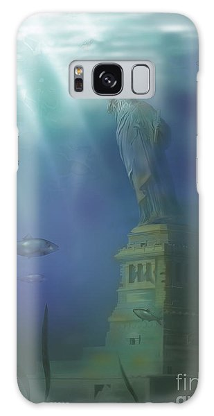Drown Galaxy Case - Statue Of Liberty Under Water by Gwen Shockey