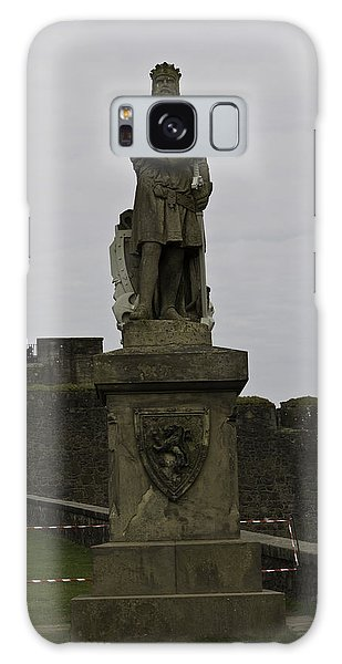 Statue Of Robert The Bruce On The Castle Esplanade At Stirling Castle Galaxy Case