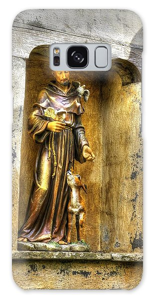 Statue Of Saint Francis Of Assisi - Alcove In The Gardens Of The Carmel Mission Galaxy Case