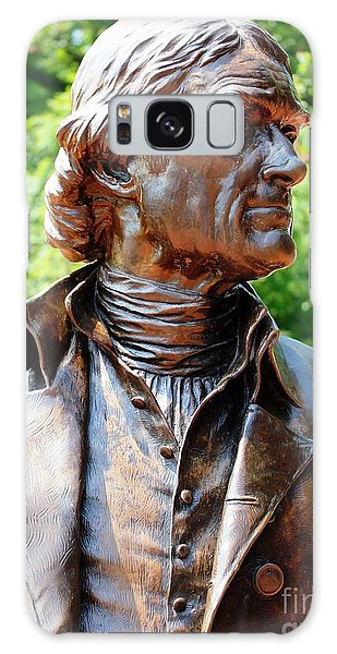 Statue Of Thomas Jefferson Galaxy Case by Judy Palkimas