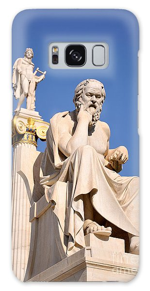 Statues Of Socrates And Apollo Galaxy Case